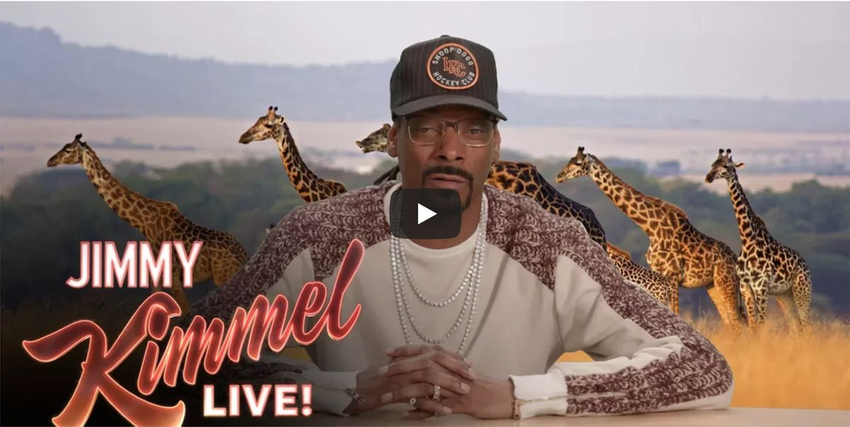 Snoop Dogg on Jimmy Kimmel's show