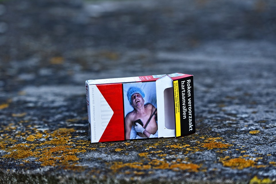 Empty pack of Marlboro cigarettes