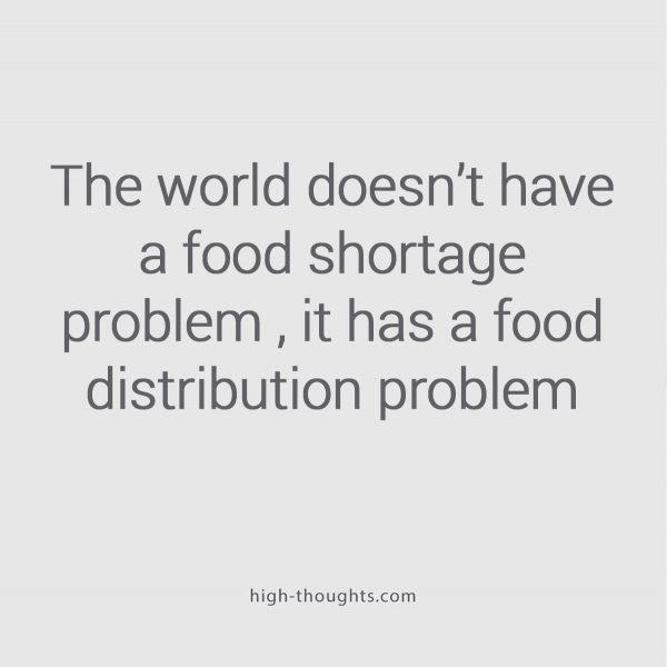 Food distribution problem